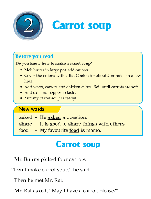 Literature grade 1 Fables and folktales Carrot soup
