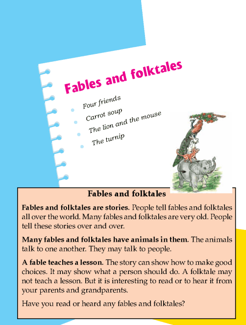 Literature Grade 1 Fables and folktales