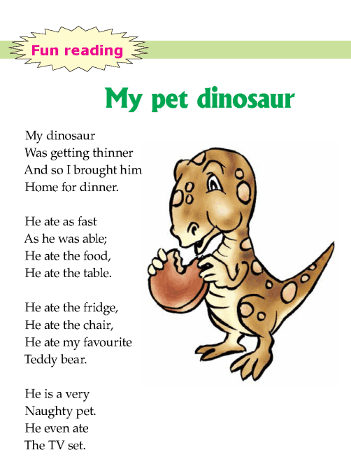 Literature Grade 1 Fairy tales My pet dinosaur