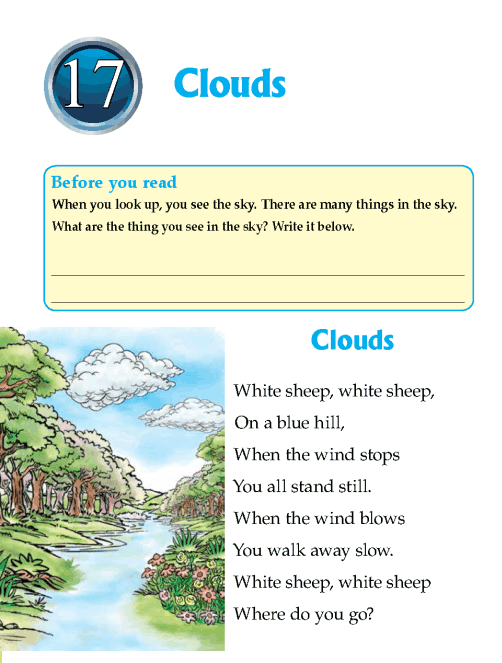 Literature Grade 1 Poetry Clouds