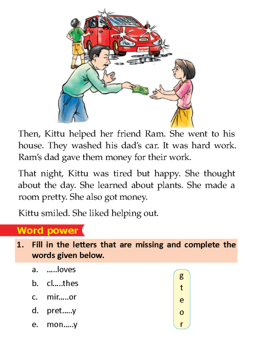 Literature Grade 1 Short stories Kittu's helping day | English ...