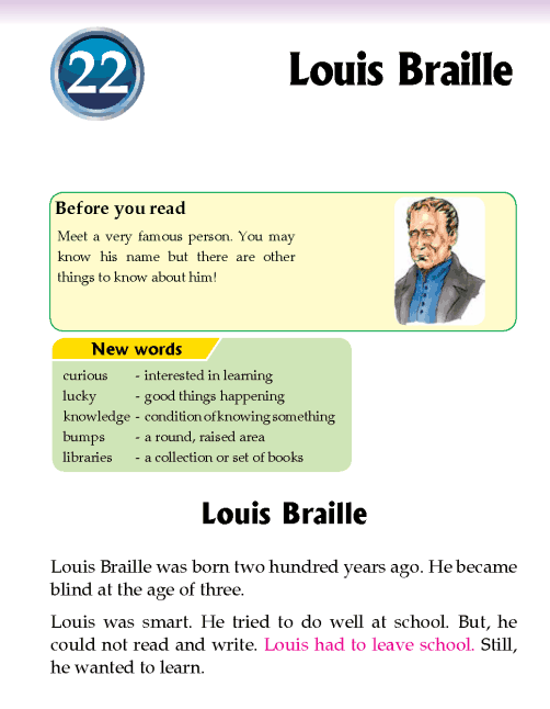 Literature Grade 2 Biography Louis Braille