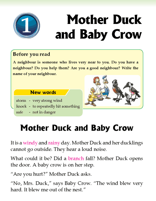 literature- grade 2-fables and folktales-Mother Duck and Baby Crow (1)