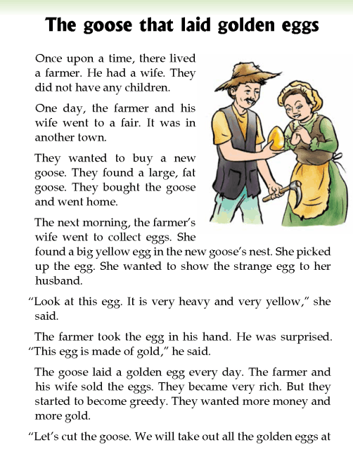 literature- grade 2-fables and folktales-The goose that laid golden eggs (2)