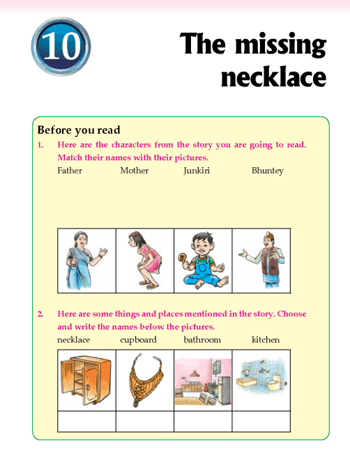 Literature Grade 2 Mystery The missing necklace