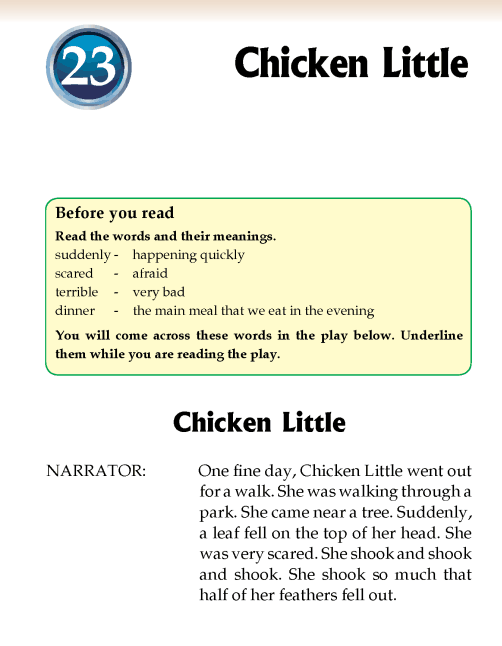 Literature Grade 2 Play Chicken Little