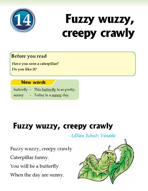Literature Grade 2 Poetry Fuzzy wuzzy, creepy crawly
