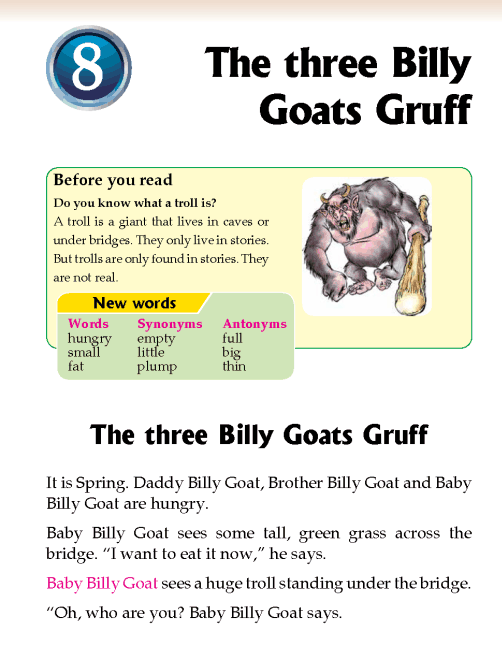 Literature Grade 2 Short stories The three Billy Goats Gruff