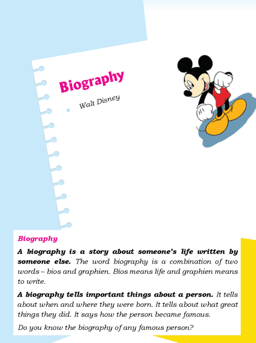 literature Grade 3 Biography