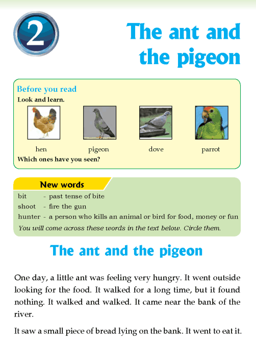 Literature Grade 3  Fables and folktales The ant and the pigeon
