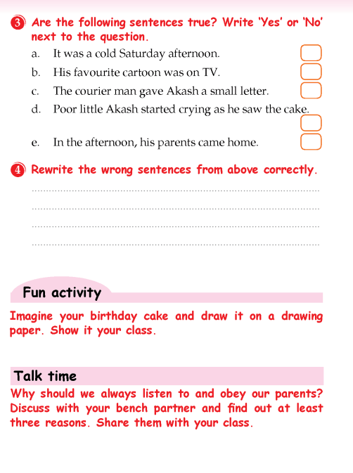 Literature Grade 3 Mystery Father's warning | English