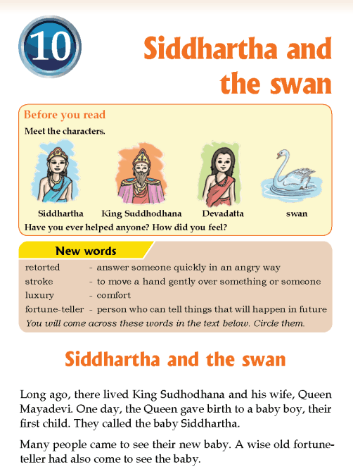 Literature Grade 3 Myths and legends Siddhartha and the swan
