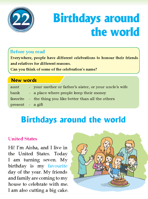literature Grade 3 Non-fiction Birthdays around the world