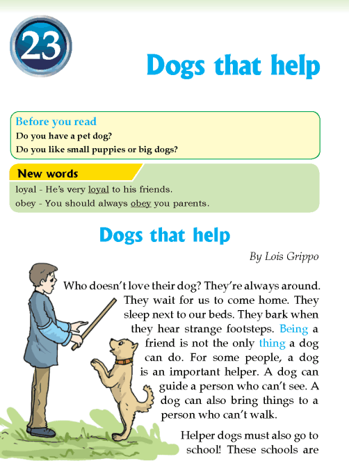 literature Grade 3 Non-fiction Dogs that help