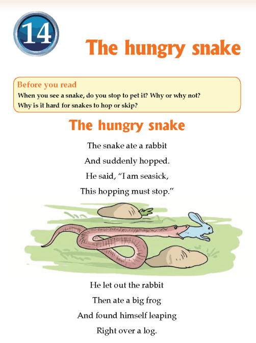Literature Grade 3 Poetry The hungry snake