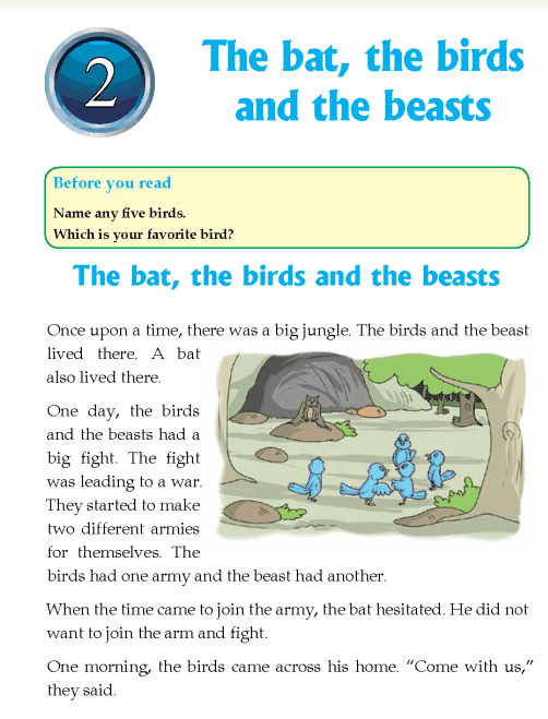 literature- grade 4-Fables and folktales-The bat, the birds and the beasts (1)