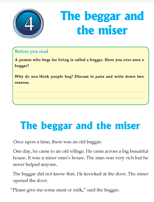 Literature Grade 4 Fables and folktales The beggar and the miser