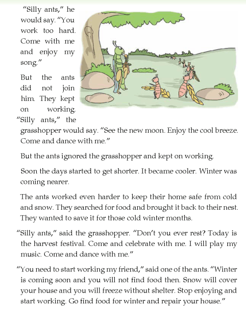 literature- grade 4-Fables and folktales-The grasshopper and the ants (2)