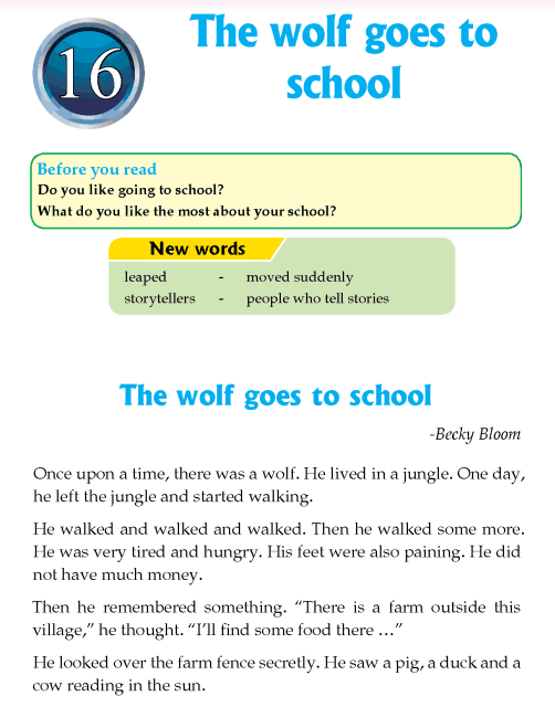 Literature Grade 4 Fantasy The wolf goes to school