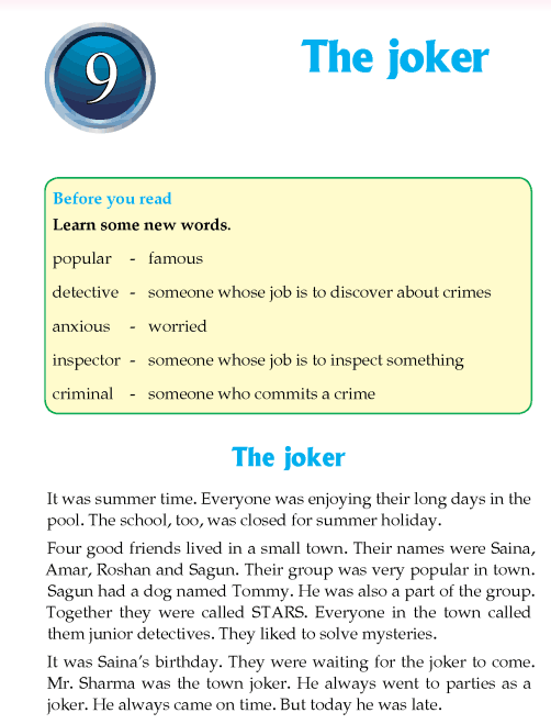 Literature Grade 4 Mystery The joker