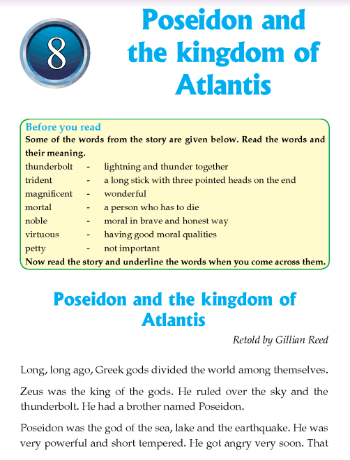 Literature Grade 4 Myths and legends Poseidon and the kingdom of Atlantis