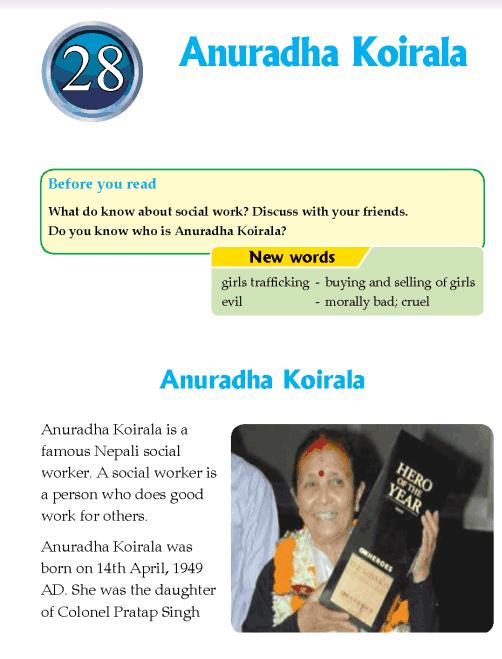 Literature Grade 4 Nepal special Anuradha Koirala