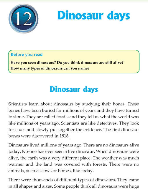 Literature Grade 4 Non-fiction Dinosaur days