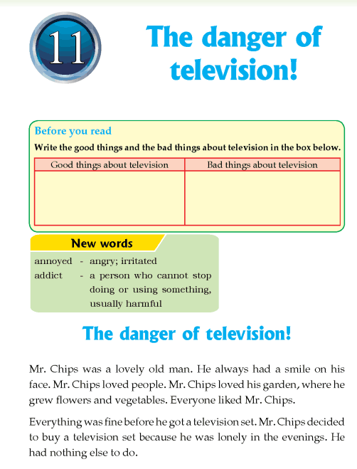 Literature Grade 4 Non-fiction The danger of television!