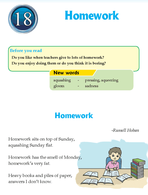 Literature Grade 4 Poetry Homework