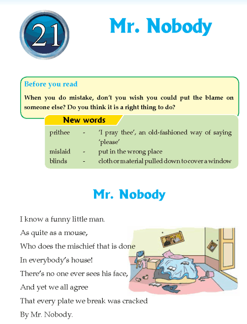 Literature Grade 4 Poetry Mr. Nobody