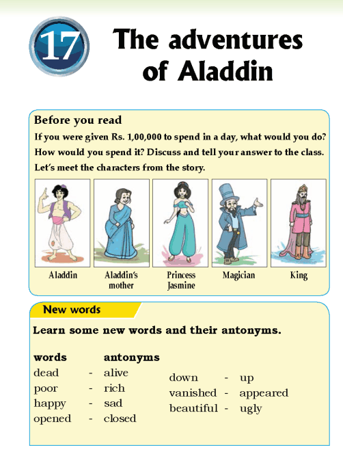 Literature Grade 5 Fairy tales The adventures of Aladdin