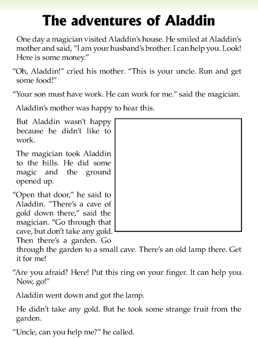 literature- grade 5-Fairy tales-The adventures of Aladdin (2)