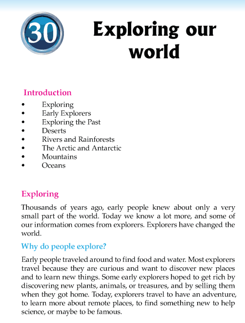 Literature Grade 5 Feature Exploring our world
