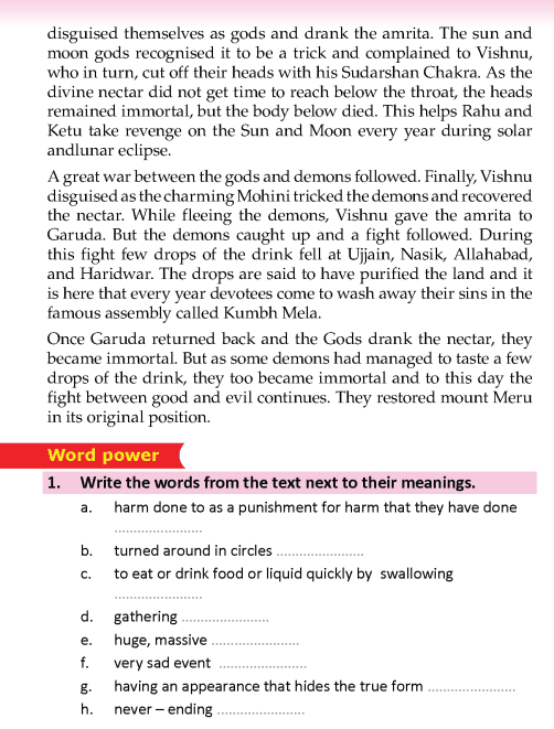 literature- grade 5-Myths and legends- Samundra manthan (5)