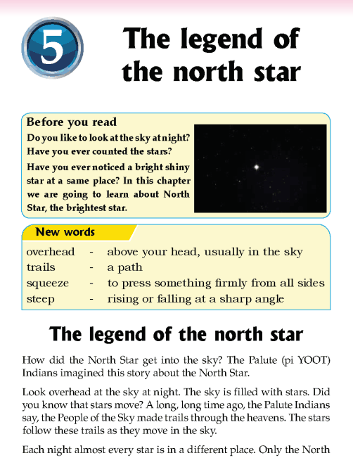 Literature Grade 5 Myths and legends Legend of the north star