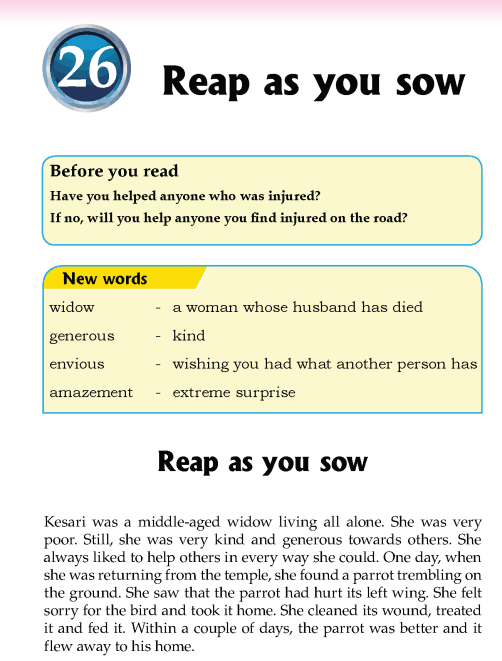 Literature Grade 5 Nepal special Reap as you sow