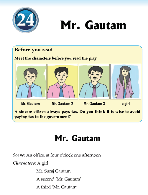 Literature Grade 5 Play Mr. Gautam