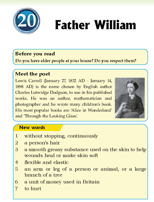 Literature Grade 5 Poetry Father William