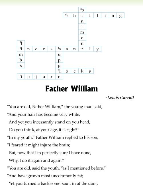 literature- grade 5-Poetry-Father William (2)