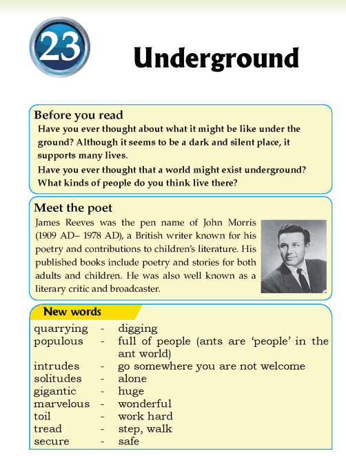 Literature Grade 5 Poetry Underground