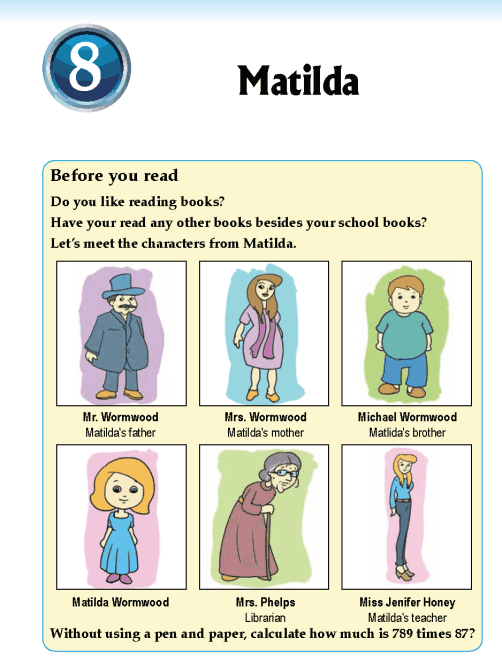 Literature Grade 5 Short stories Matilda
