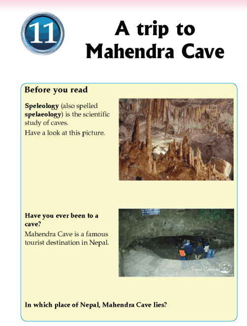Literature Grade 5 Non-fiction A trip to Mahendra Cave
