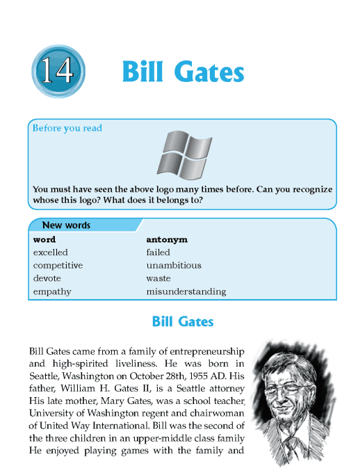 Literature Grade 6 Biographies Bill Gates