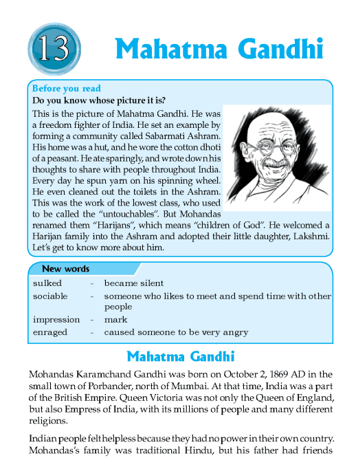 Literature Grade 6 Biographies Mahatma Gandhi