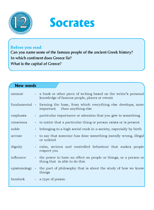 Literature Grade 6 Biographies Socrates