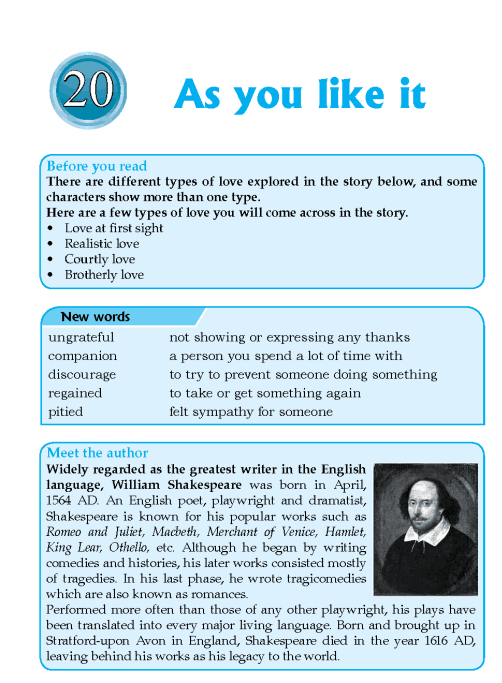 Literature Grade 6 Feature As You Like It