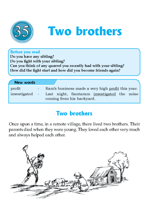 Literature Grade 6 Inspirational Two Brothers
