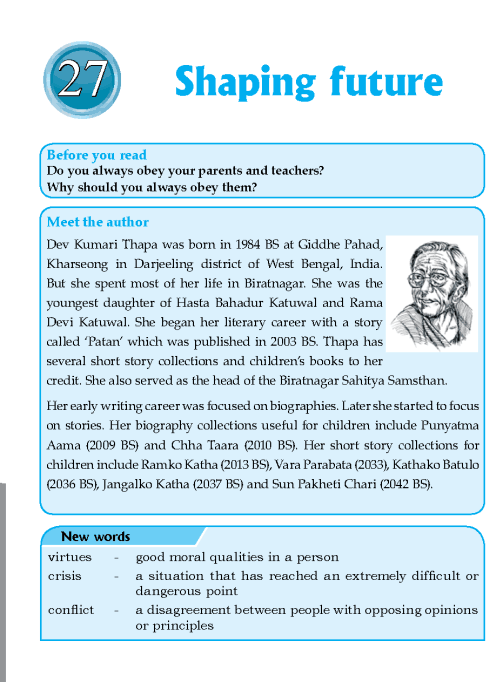 Literature Grade 6 Nepal Special Shaping Future
