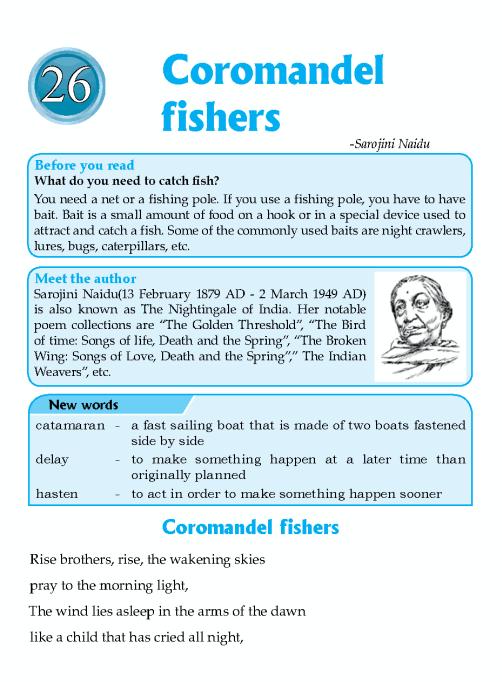 Literature Grade 6 Poetry Coromandel Fishers English Literature