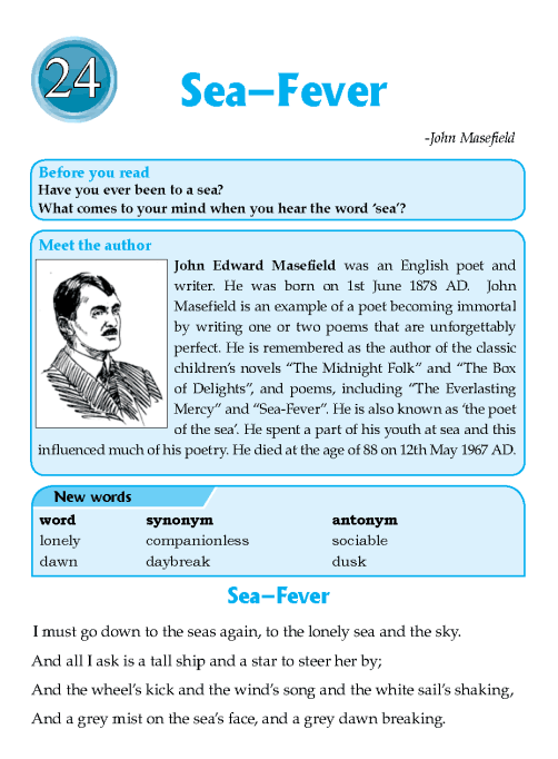 Literature Grade 6 Poetry Sea–Fever